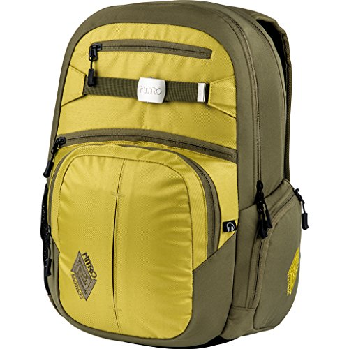 Nitro Snowboards Rucksack Hero Pack, Colore Nero (Black), Dimensioni: 23 x 38 x 52 cm, 37 Liter Oro (Golden Mud)