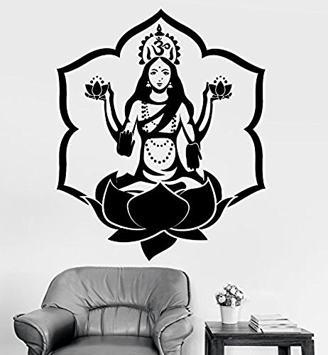 ggww-wall-sticker-buddha-goddess-lakshmi-lotus-om-meditation-vinyl-decal-z2914