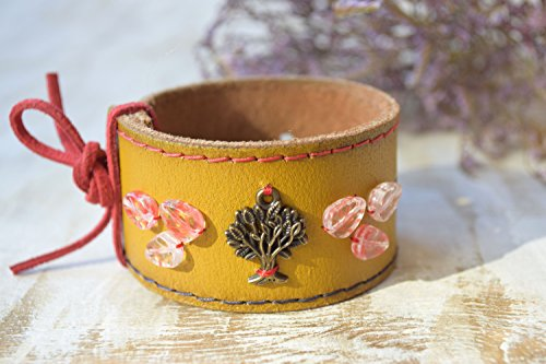 Leder armband Manschette Baum des Lebens