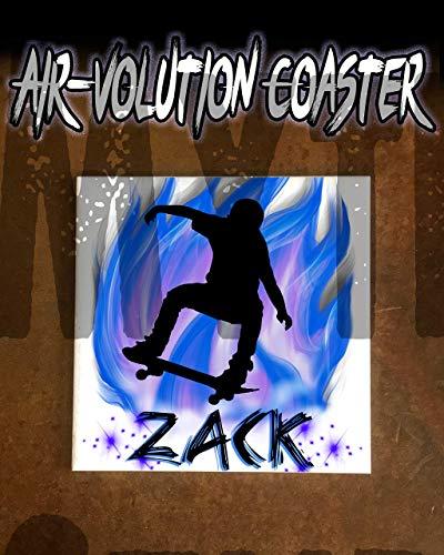 Mythic Airbrush Personalisierte Airbrush Skateboarden Ceramic Coaster Weiß