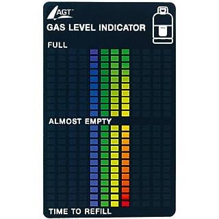 AGT Gasstandanzeige: Gasstand-Anzeiger für handelsübliche Gasflaschen, 22-stufige Skala (Gasanzeige)