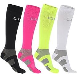 Calcetines de compresión de alta calidad para hombres y mujeres, yapoyo del tobillo y del metatarso, costuraplana en la puntera, para correr, montar en bicicleta, recuperación, circulación, viaje