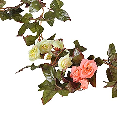 TELLM Roses Vine hanging wedding arch pipe ceiling decoration flowers
