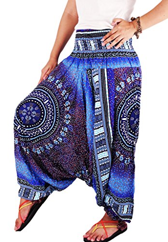 authenticasia-dashiki-circle-collection-2-in-1-harem-pants-jumpsuit-dac-06-blue