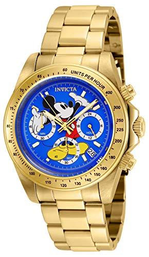 Invicta 25195 Disney Limited Edition Mickey Mouse Reloj Unisex acero inoxidable Cuarzo Esfera azul