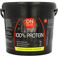 Deluxe Nutrition 100% Protein 4kg Chocolate With Whey, Isolate Protein And Added Glutamine Peptide