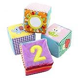 szseven Baby Stofftiere Rassel Bausteine Spielzeug Für Kleinkinder Tuch Spielzeug Infant Früherziehung Blöcke Set Erkenntnis 3D Puzzle Spielzeug Für Kinder Jungen und Mädchen