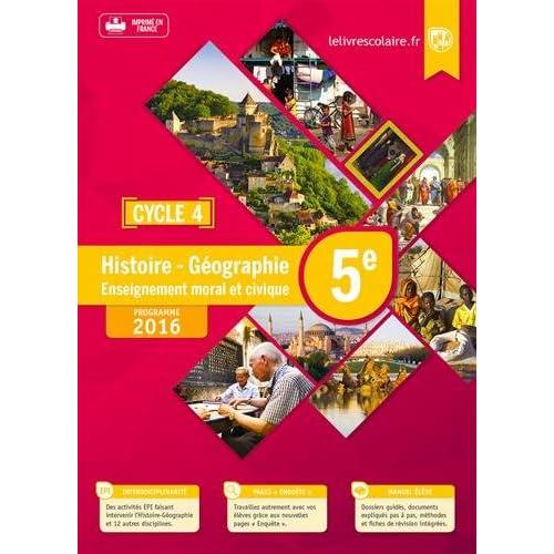 Histoire-Géographie-EMC 5e : Manuel élève