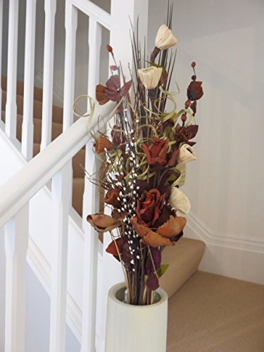 own-chocolate-cream-dried-artificial-flower-bouquets-85cm-tall-ready-for-a-vase