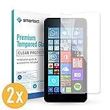 smartect Panzerglas für Microsoft Lumia 640 [2 Stück] - Bildschirmschutz mit 9H Härte - Blasenfreie Schutzfolie - Anti Fingerprint Panzerglasfolie