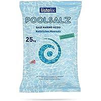 Sal Marina Pool–Saco de 25kg de sal del mar Mediterráneo, piscina agua salada sistemas electrólisis Instalaciones Natural Mar Sal Sale Marino Mediterráneo Sal 25kg–Medio