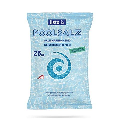 Meersalz Poolsalz 25 kg Sack aus dem Mittelmeer, Schwimmbad Salzwassersysteme Elektrolyseanlagen Natürliches Meersalz Sale Marino Mittelmeersalz 25 kg - Medio