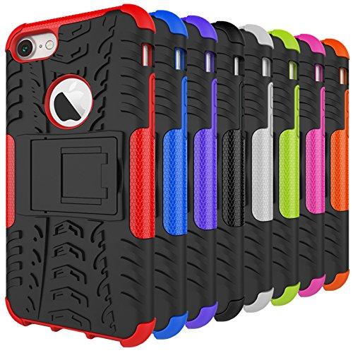 BCIT iPhone 7 Cover - Alta qualità Doppio Strato ibrido Cellulari Case Custodia protettivo Per iPhone 7 - Blu Verde
