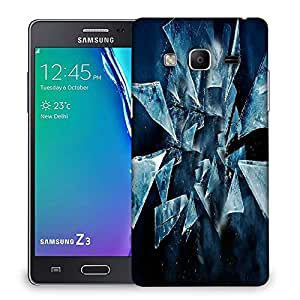 Snoogg dark scenes in the shattered glass 2618 Designer Protective Back Case Cover For Samsung Galaxy Tizen T3