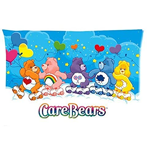 OYEAH Decorative Flower Pattern Soft Home Decor Bed Sofa Throw Pillow Cases Cartoon Care Bear 20X30 Inch 2 Sides for home