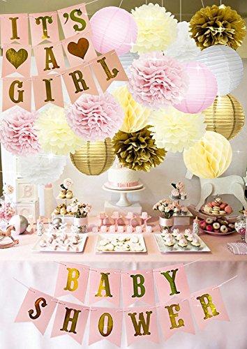Baby Shower Mädchen Jonami Babyparty Madchen It/'s a Girl... Babyparty Deko