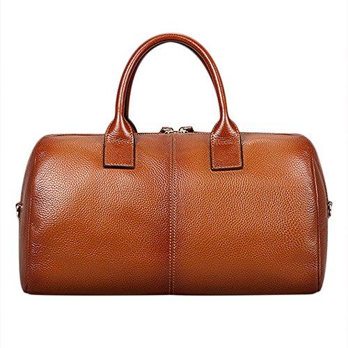 Il cuscino di Myleas il cuoio genuino superiore a forma di sacchetto della maniglia di corsa della spalla borsa Big Capacity Marrone