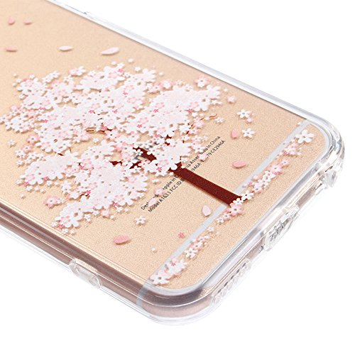 IPhone 6 Plus/6S, Vioela, motivo: fata dei fiori, design a farfalla, colore: trasparente-Con custodia rigida posteriore trasparente, Ultra sottile, in Silicone, per iPhone 6 Plus/6S, 11,94 cm (4,7) c - Pink Tree
