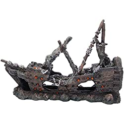 allpondsolutions 61788 - Figura Decorativa para Acuario, diseño de Barco Pirata
