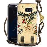 DeinDesign Samsung Galaxy S7 Edge Carry Case Hülle zum Umhängen Handyhülle mit Kette Schiff Anchor Anker