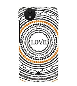 Fiobs Designer Back Case Cover for Micromax Canvas Android A1 AQ4501 :: Micromax Canvas Android A1 (Multicircle Multipattern Love)