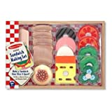 Best Wooden Kitchens For Kids - Sandwich Making Set: 16 Mix-n-match Pieces and Wooden Review