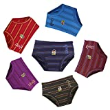 #6: Dora Dora Kids Baby Boys and Girls Striped Printed Cotton Panties Inner Wear Brief Panty Combo Pack Offer - 6 Pc