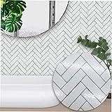 Aliexpress vend nordique moderne minimaliste blanc chevrons style carreaux autocollants chambre cuisine salon étude mur autocollants