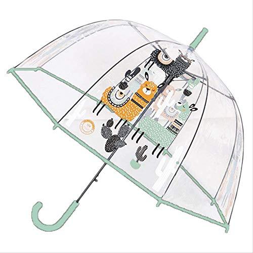 029285f99bd9 BUDIAN Parapluie Children's Umbrella Unicorn Transparent Umbrella  Children's Umbrella Cute Cartoon Alpaca Girl Umbrella Cherry Blossom Alpaca  Green