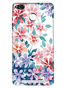 RedMi 3S Back Cover - Hand Painted Floral - Designer Printed Hard Shell Case