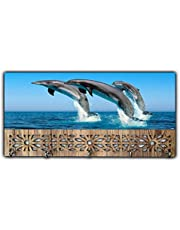 Xpression Décor Key Holder Rack with Photo of Dolphin 7680