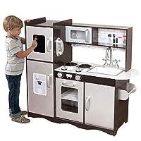Deluxe Play Kitchen Kids Wooden Toy Boys Girls Children