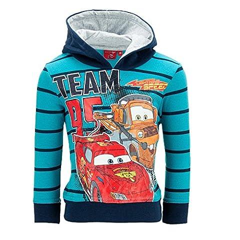 Dress-O-Mat Jungen Sweatpullover Pullover Jacke Hoodie Cars Gr 98 3 J türkis (Jacke Cars)