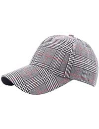 Laisla fashion Gorra De Béisbol Unisex Gorra De Tela Escocesa De Clásico  Sarga Sombreros De Sombrillas 9f020447adaf