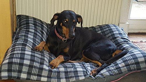 Hundebett XXXL grau, 120×100 cm, Hundekissen waschbar, Tier-Kissen - 5