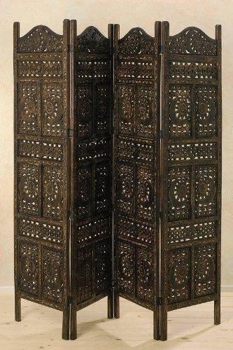 Raumteiler Paravent Spanische Wand FIRMAMENT Holzschnitzerei