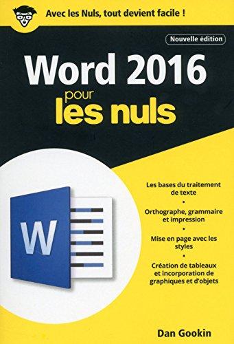 Word 2016 pour les Nuls poche, 2e édition par Dan GOOKIN