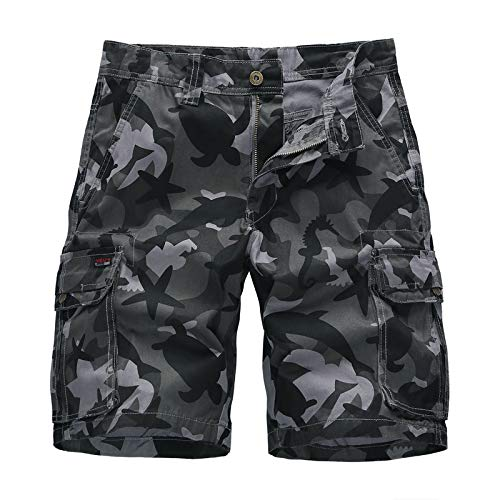 Ozon Bib (CHLCH Herren Sport Shorts Jogginghose KordelzugCamouflage Shorts Herren dunkelgrau 32)