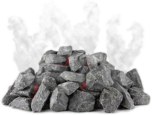 Original finnische Saunasteine 20kg Olivindiabas Aufgusssteine Dampfstein für Saunaofen Elektroofen...