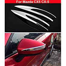 2 tapacubos de cromo para espejo retrovisor lateral, diseño de rayas