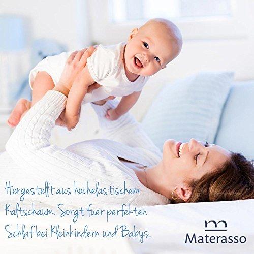 Beste 50x100 Kaltschaum-Matratze für Kinder, Babymatratze für Kinderbett / Krippe, Abnehmbarer, Waschbarer Bezug mit Seealgen-Extrakt im Bezug für Besseren Schlaf & Gesundheit, Höhe 10 cm - 4