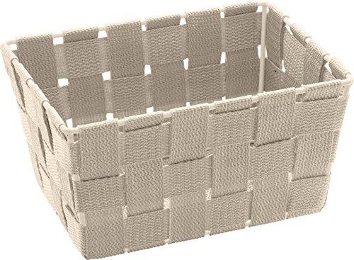 Wenko 20685100 Cesta Adria Mini Largo beis - cesta para el baño, Polipropileno, 19 x 9 x 14 cm, Beige
