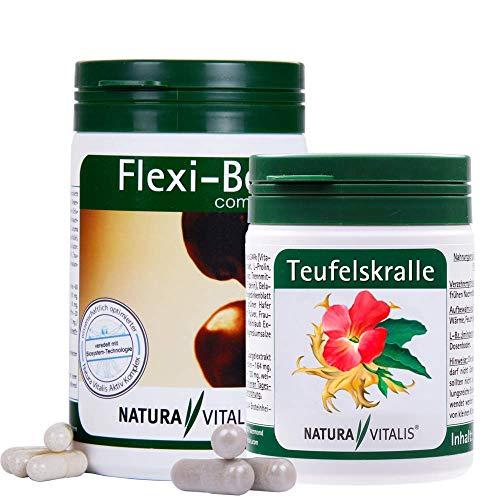 Natura Vitalis Set: Flexi Bel complete 200 Kapseln + Teufelskralle 120 Kapseln - Complete 120 Kapseln