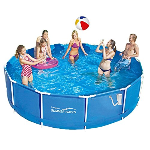 Summer Waves Frame Pool 366x91cm Rahmen Swimming Pool Familien Schwimmbad mit Filterpumpe -