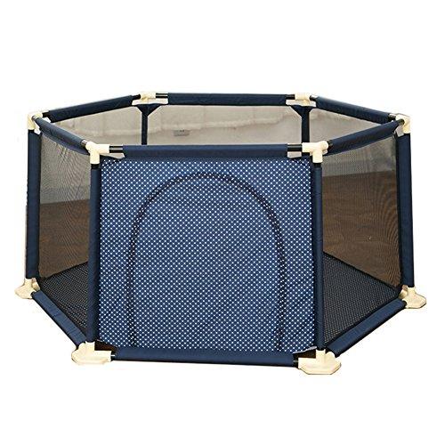 Playpens Intérieur Bébé Playard pour Bébé, Maison Extérieure Oxford Tissu Toddler Room Diviseur Clôture 1.5 M (Couleur : Blue)