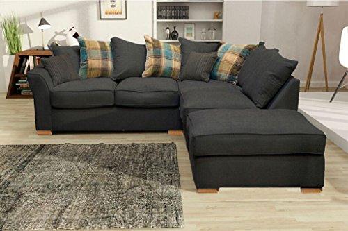 Prestige hugo set divano ad angolo, con poggiapiedi separabile destro o sinistro