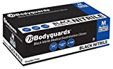 B M POLYCO LTD GL8975 BODYGUARD Nitrile Powder Free Gloves, Black, Set of 100 size XL/9.5