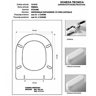 Cesame SYMBOL White Toilet Seat Hinge-Chrome-Seat Toilet Seat