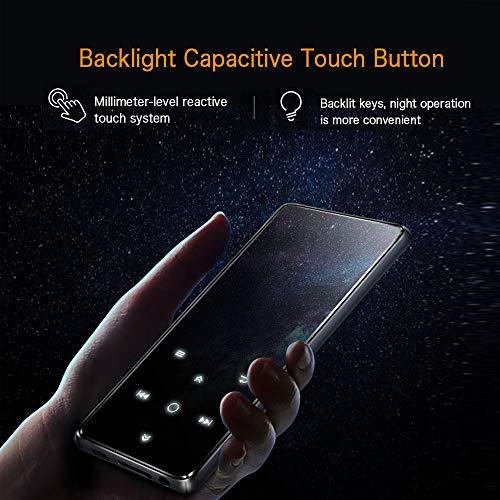 Mibao Lettore MP3 Bluetooth4.0, Lostless Music Player 16GB con 2.4' TFT Display a Colori, Pulsante di Tocco, con Radio FM/Registratore Vocale/Immagine/E-book, Supporto Espandibile Max Fino a 64GB - 6