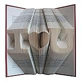 plié livre Art–Papier cadeau d'anniversaire pour homme ou femme–Unique–Décoration de mariage de cadeau d'anniversaire–Fait main–Save the Date